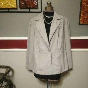 COPY - Lane Bryant size 18 one button gray blazer
